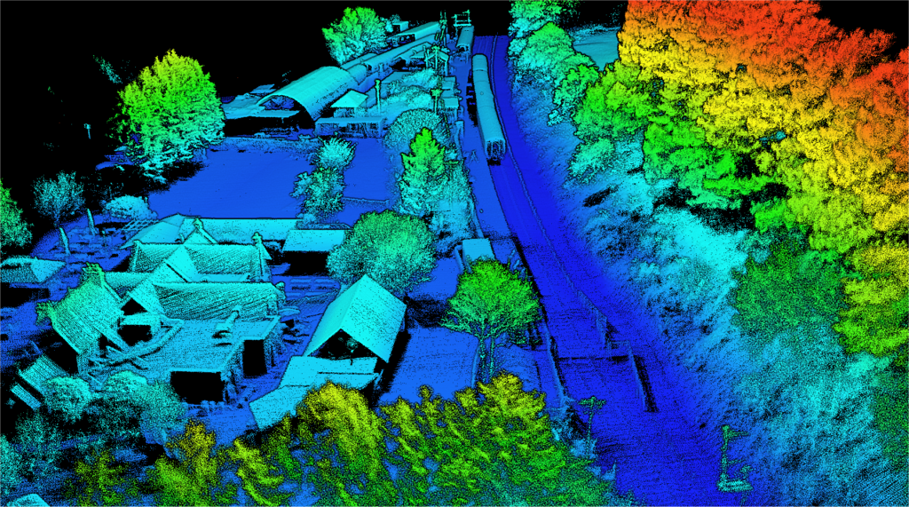 Image capture of Heritage Railway in UK using Lidaretto 3D mapping system