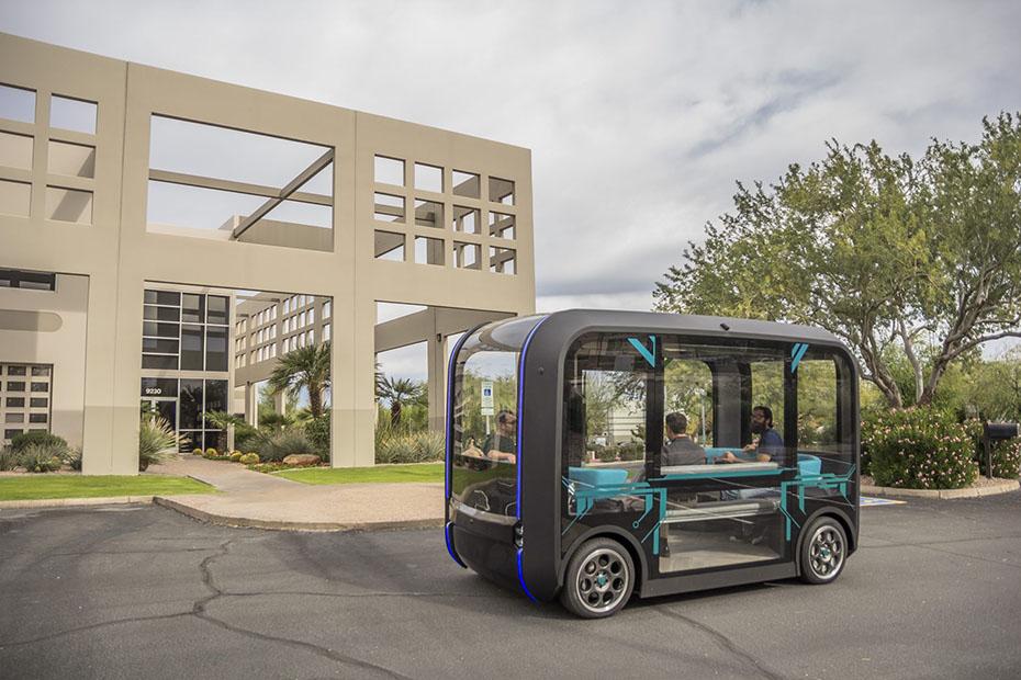 Local Motors Olli shuttle, utilizing Velodyne lidar solutions