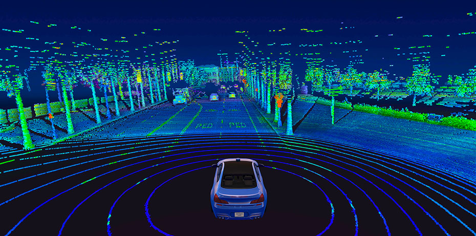 Point Cloud created by Velodyne Lidar's Alpha Prime sensor